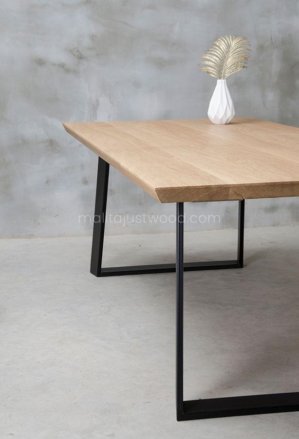 rozkładany stół Clamo z litego drewna dębowego