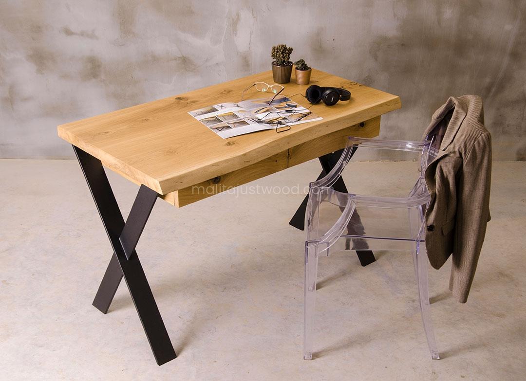 dębowe biurko Navigo z szufladami