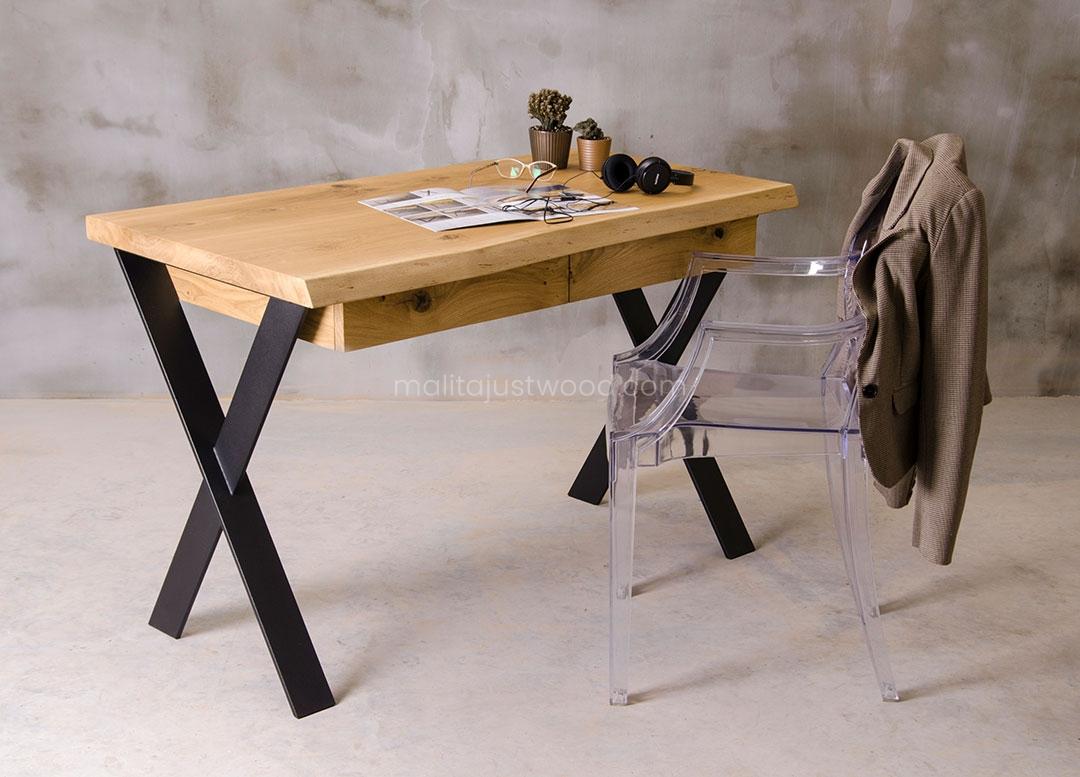solidne biurko Navigo dębowe