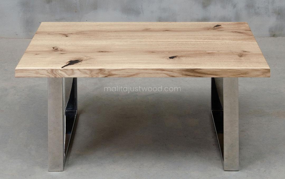 stolik drewniany Parvus z litych desek dębowych