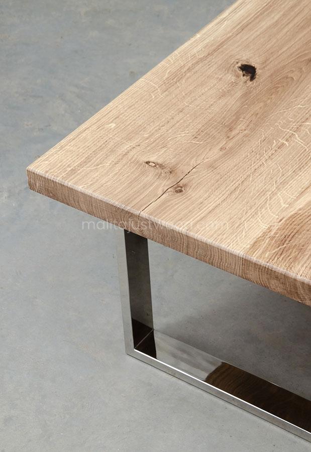 prostokątny stolik Parvus z dębowym blatem