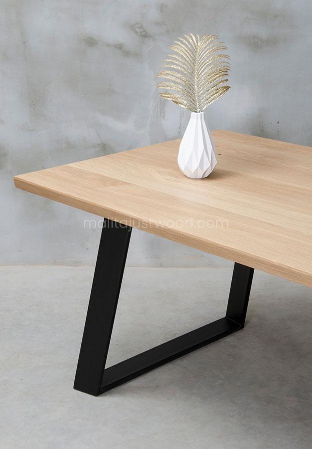 stół Clamo z litego drewna rozkładany