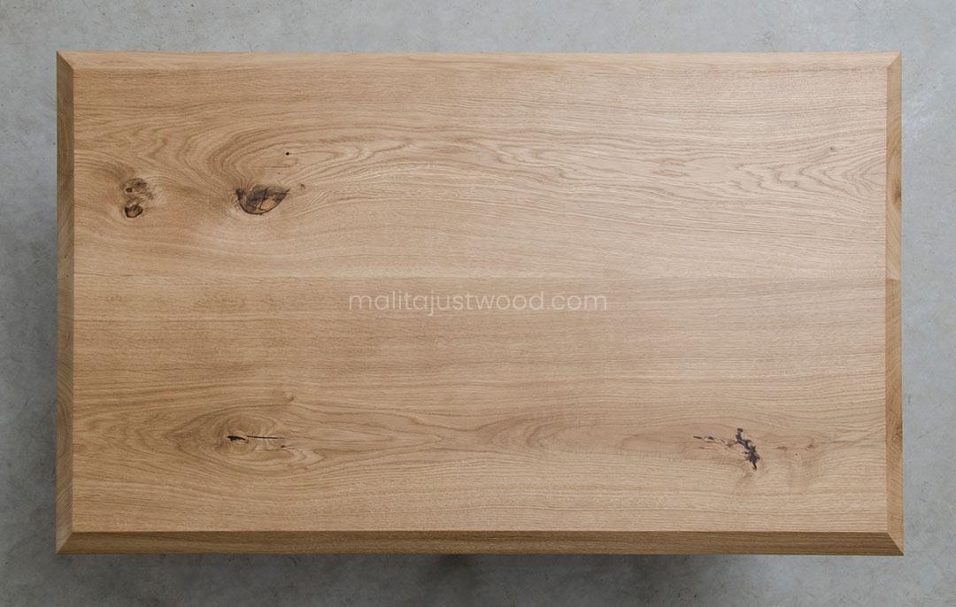 stylowy stolik Semper z drewna dębowego