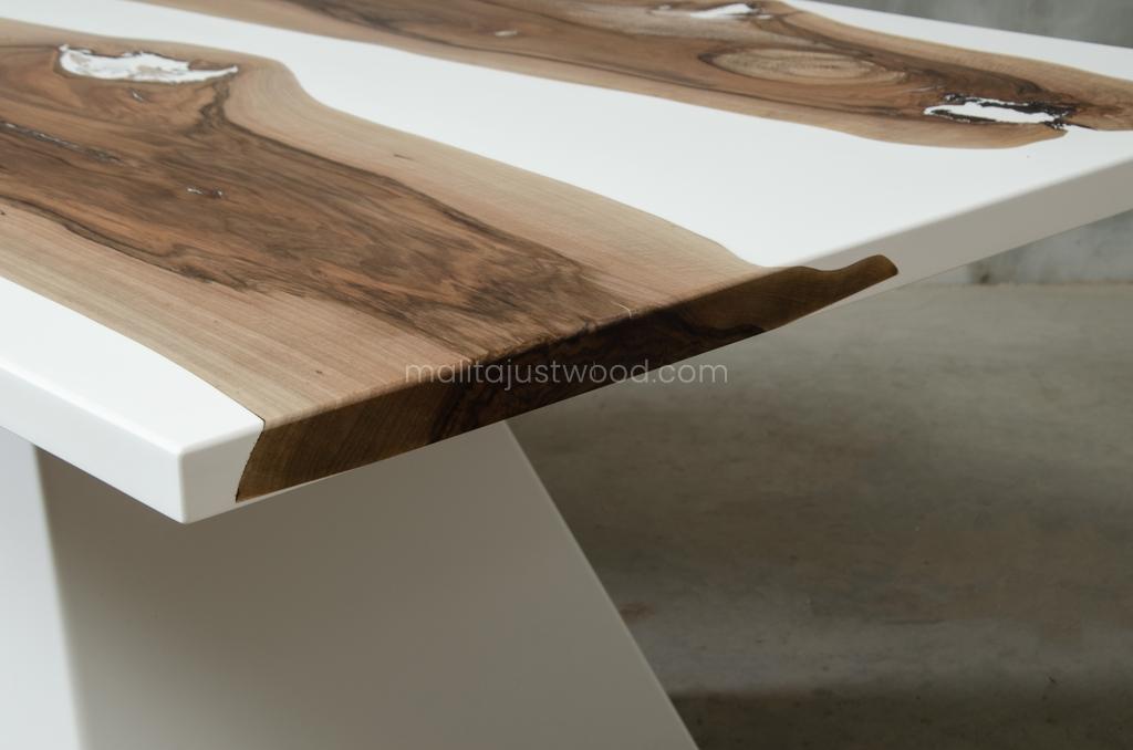 konferencyjny stół Concordia 250x110 biała żywica