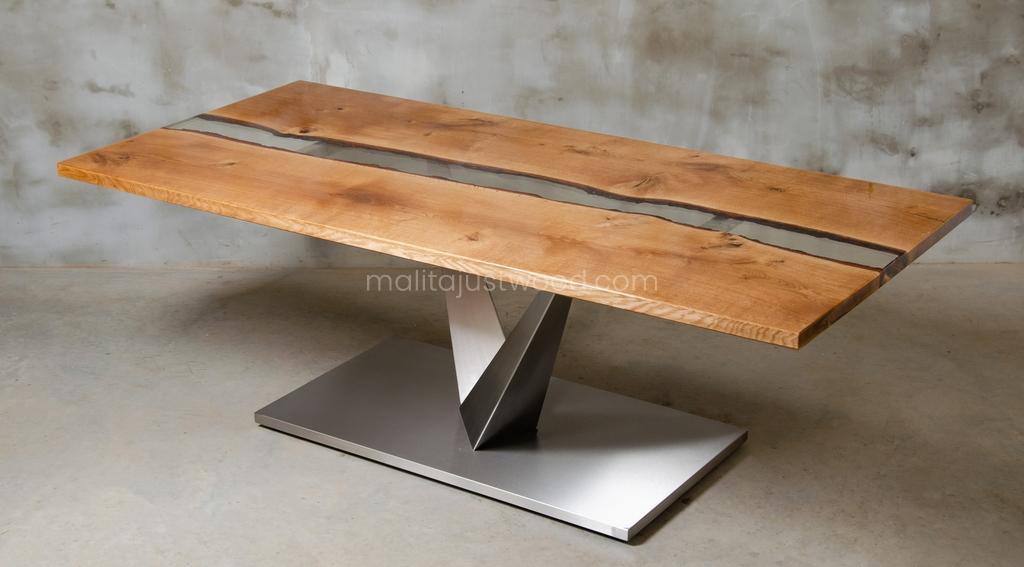 lakierowany stół Dives z żywicą