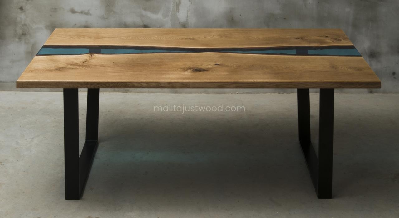 stół Flumine z żywicy epoksydowej