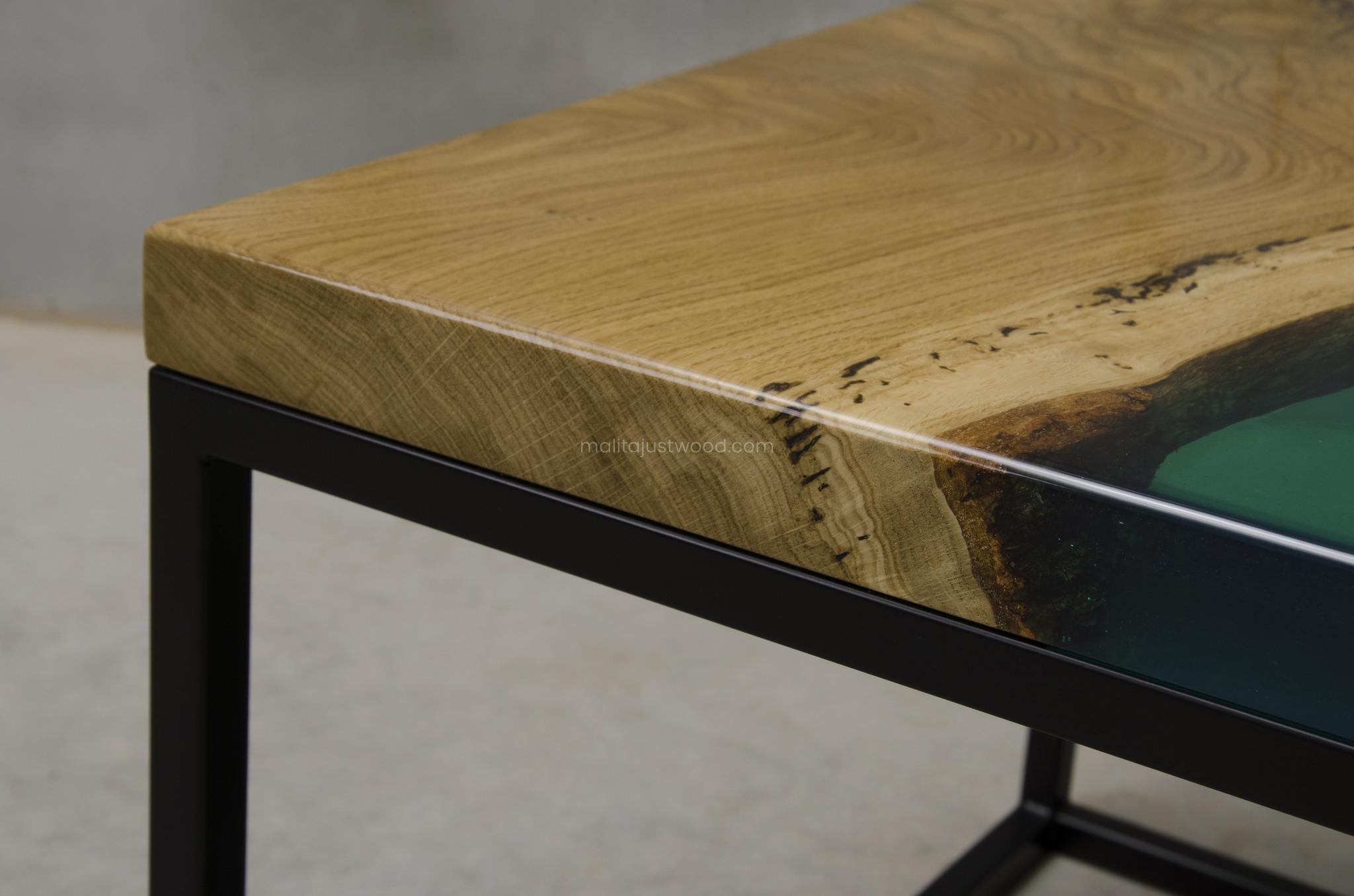 stolik Ventus drewno i żywica epoksydowa