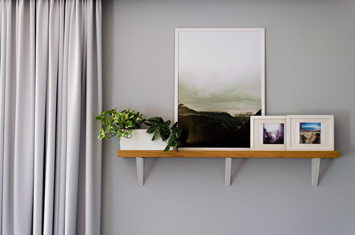 Drewniana półka minialistyczny styl skandynawski