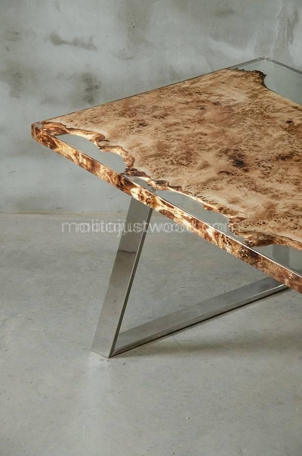 stół jadalniany Astrum z drewna i żywicy epoksydowej