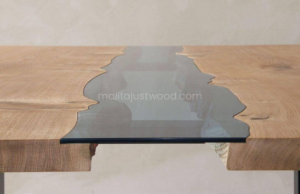 stół Lente ze szklanym blatem