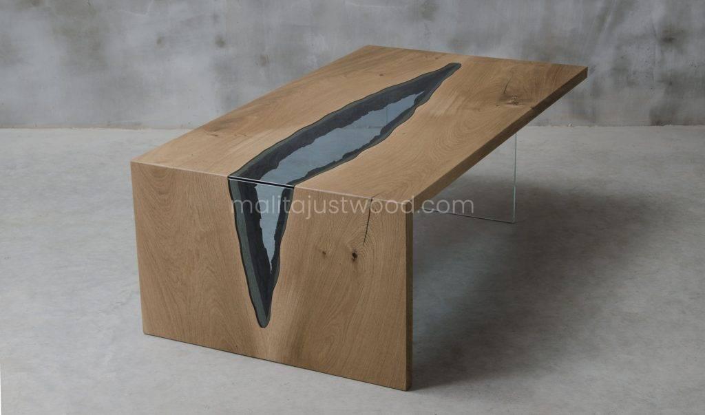 stolik kawowy Vitrum ze szklanym blatem idealny do salonu