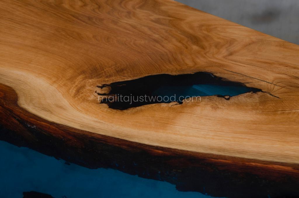 tantum table embedded in resin