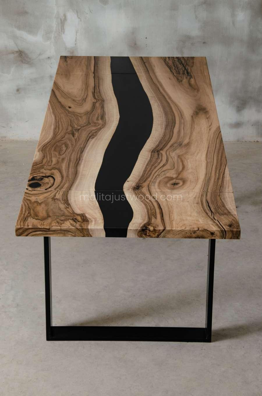 modern walnut table tenens