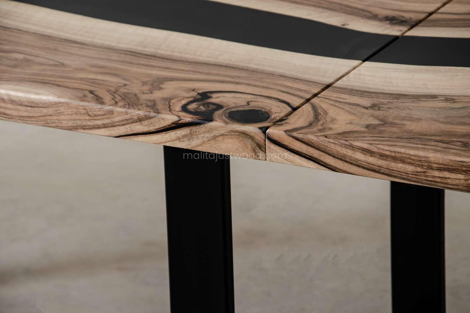 elegant dining table tenens with epoxy resin