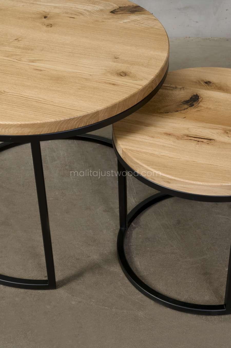 drewniane stoliki circum