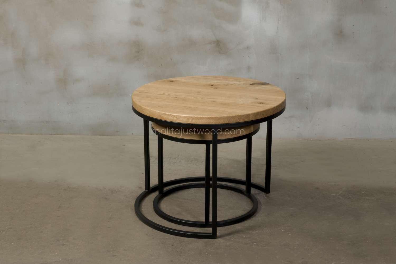 designerski stolik circum drewniany
