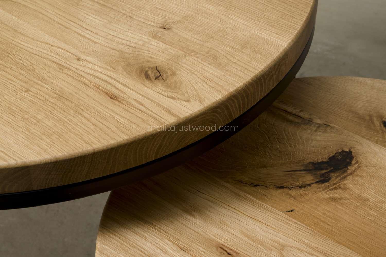 kawowe stoliki circum ze stalowymi nogami